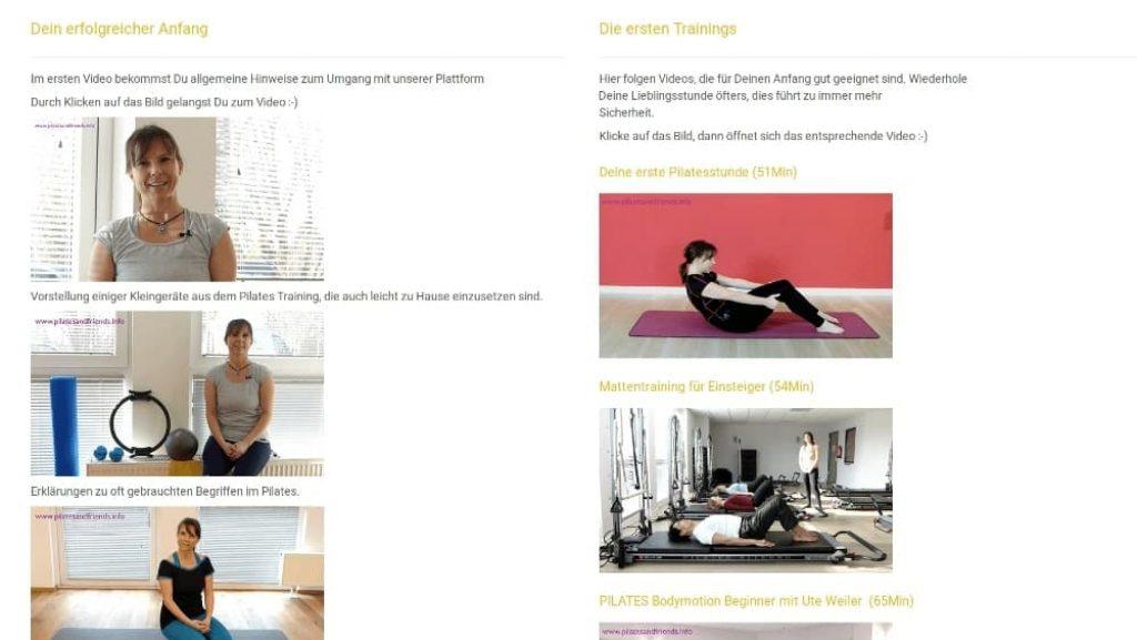 Pilates and Friends - Das Anfängertraining.