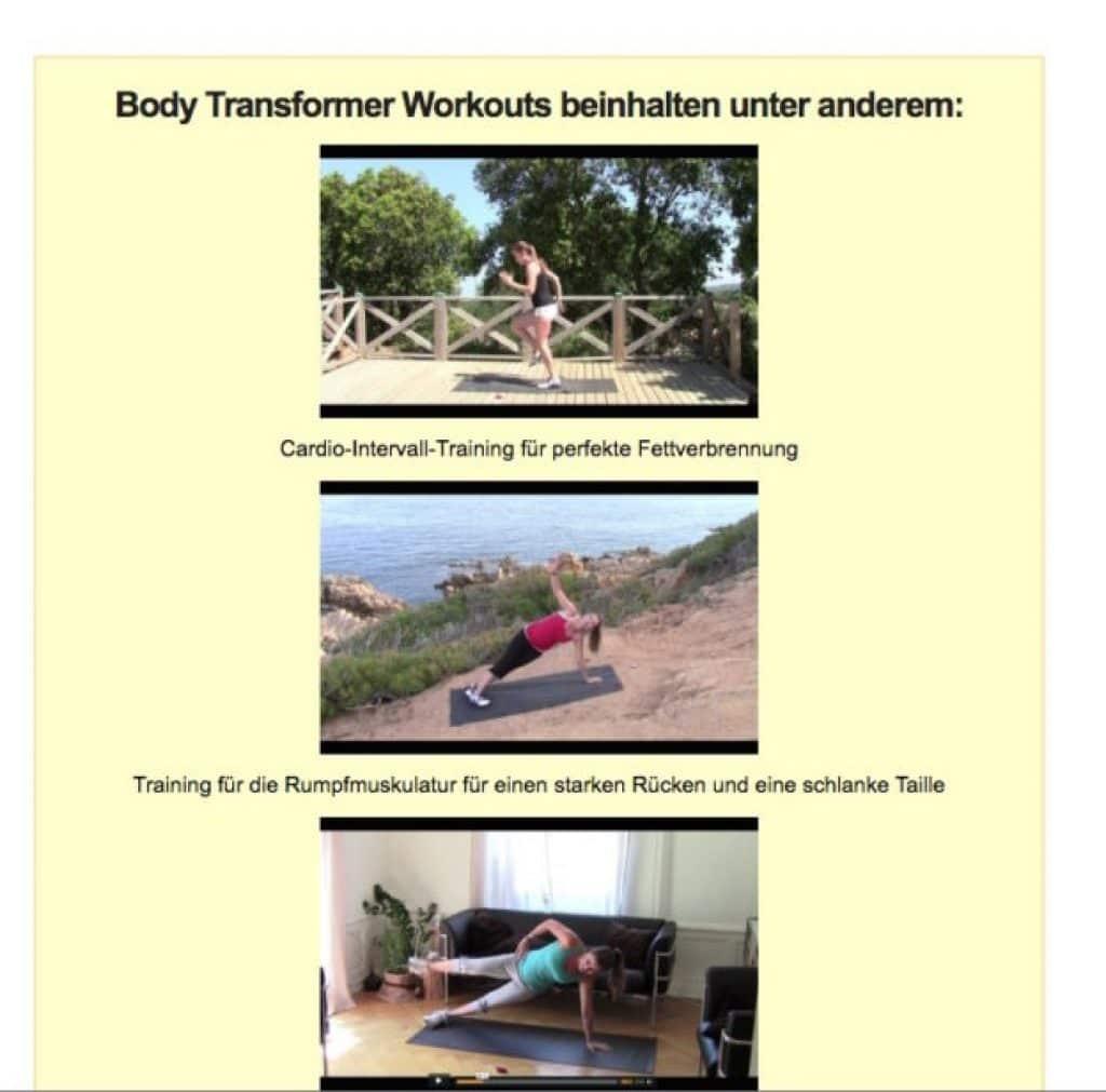 Body-Transformer - Ausschnitt der Video-Inhalte.