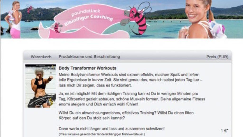 Body-Transformer - Die Bestellseite.