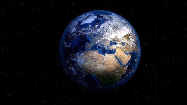Foto der Erde.